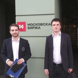 Александр и Дмитрий Цыглины на Московской бирже